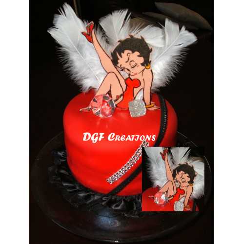 Personalized  Cake Toppers betty boo