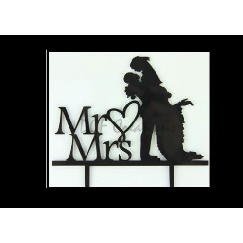 Mr and  Mrs With Couple 1 Cake Topper