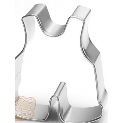 Baby Overall Onesie Cookie Cutter 3""