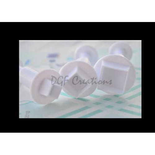 Square Plunger Cutter Set Of 3