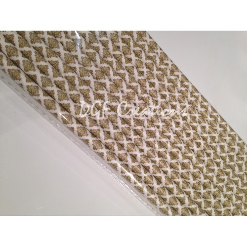 Damask Gold Pattern  Paper Straw click on image to view different color option