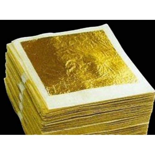 Gold Metallic leaf/paper 24K set of 10 sheets