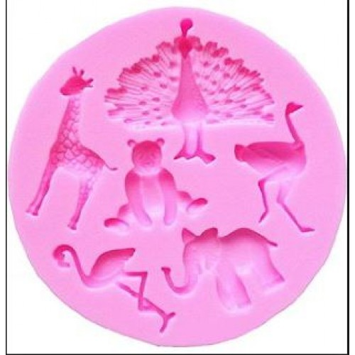 Animal mold ( Giraffe,Bear,flamingo,elephant,ostrich,peacock)