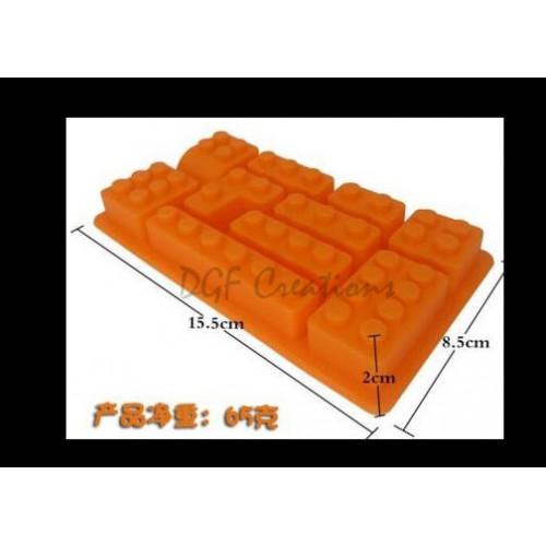 Assort. Lego Mold 10 Cavities