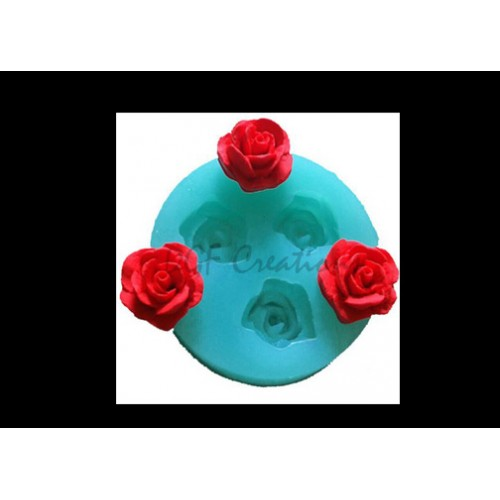 3 Mini Rose Flower Mold