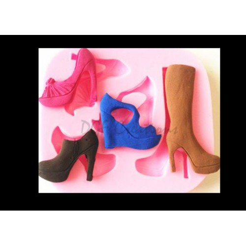 Assorted Shoes & Boot Silicone Mold- ( High Heel, Boot )