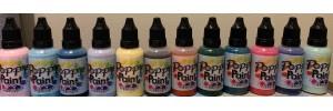 Poppy Paint 12 Color SET blush, frozen, blue, lavender, buttercup, brown, orange, green, teal, pink, purple,mint