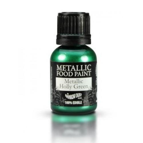 Rainbow Dust Metallic Holly Green  25ml