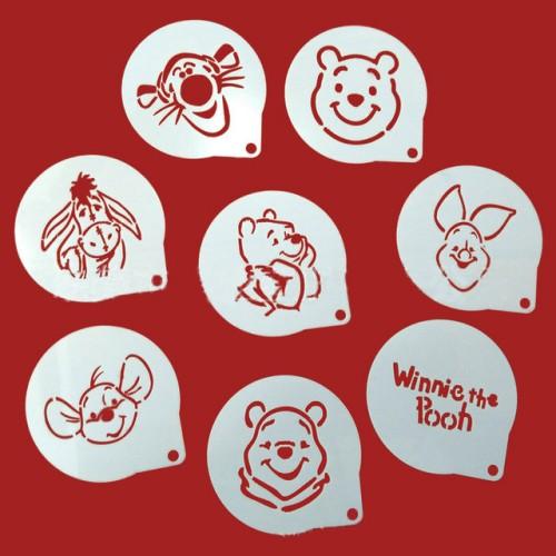 Winnie The Pooh Cookie Stencil 8PCS